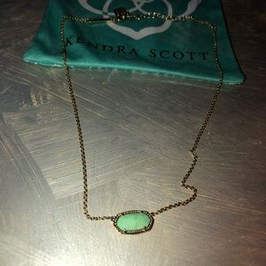 Kendra Scott Elisa necklace in mint green